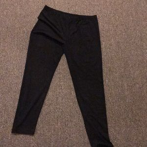 Pants - Black velvet-like leggings